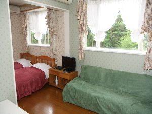 清里ペンショングランデールのペットと泊まれる部屋