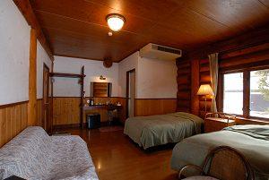 白馬ログホテルミーティアのぺットと泊まれる部屋