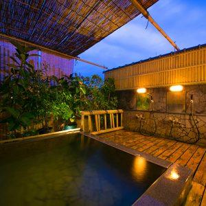 ホテル好楽の別府温泉の天然温泉露天風呂