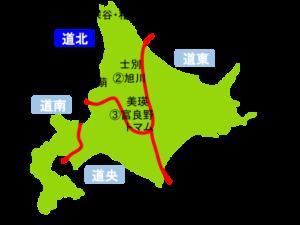 道北(北海道)の地図