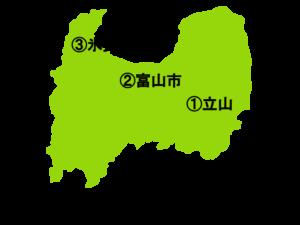富山県の地図