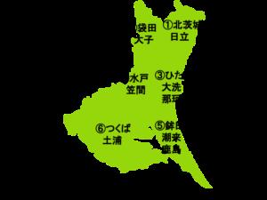 茨城県の地図