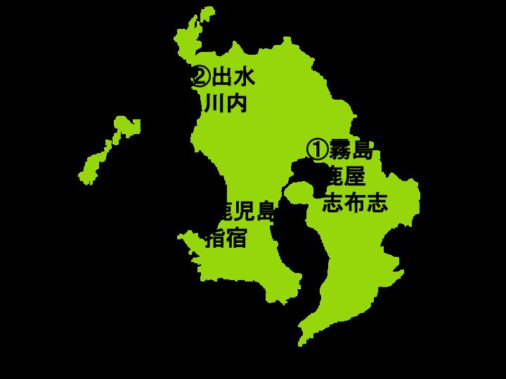 鹿児島県の地図