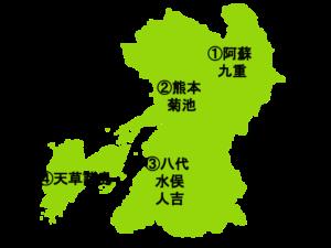 熊本県の地図