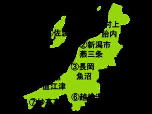 新潟県の地図