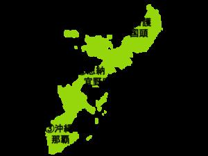 沖縄島の地図