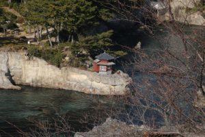五浦海岸の岡倉天心ゆかりの六角堂