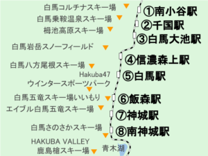 白馬(長野県)の地図