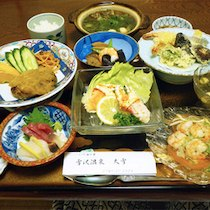 雪沢温泉 大雪の食事