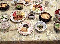 蔵王坊平高原 石井ペンションの食事