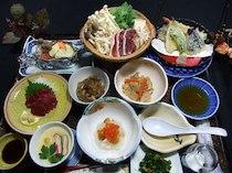 加登屋旅館の料理