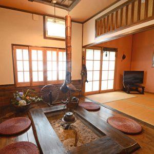 島 四季彩の郷 万遊の囲炉裏があるペットと泊まれる部屋