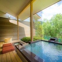 わんこと泊まれる宿 わんこあんの屋内露天風呂の天然温泉