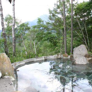 ログハウスふくろうの宿の天然温泉