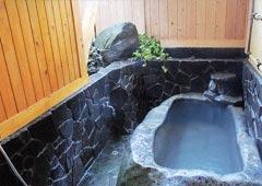去来庵松城館の天然温泉