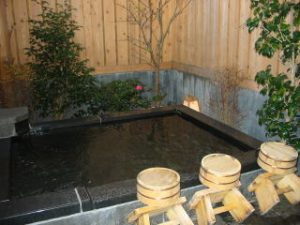 愛犬と泊まる美食と露天風呂の宿モルゲンの天然温泉