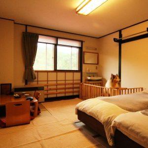 癒しの宿幸の湯のぺットと泊まれる部屋
