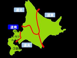道南(北海道)の地図
