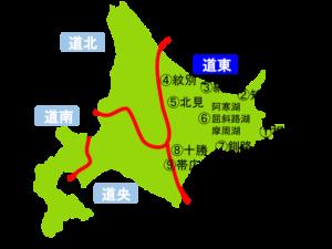 道東(北海道)の地図