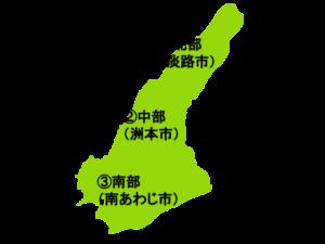 淡路島の地図