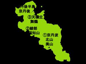 京都府(全域)の地図
